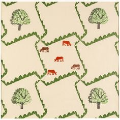 #wallpaperwednesday #edwardbawden #Tree and #Cow 1927