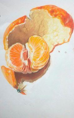 Watercolor fruit, fruit painting, food drawing, paintings of fruit, waterco Watercolor Fruit, Watercolour Painting, Painting & Drawing, Simple Watercolor, Watercolors, L'art Du Fruit, Fruit Art, Fruit Cakes, Fresh Fruit