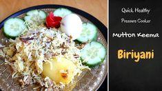 Healthy Quick Mutton Keema Biriyani is very easy 30 minutes Pressure Cooker Mutton Biriyani Recipe. Boneless Mutton BIriyani is a easy but very delicious tre. Indian Mutton Recipes, Indian Food Recipes, Ethnic Recipes, Rice Recipes, Dinner Recipes, Biryani Recipe, Yogurt, Cooker, Lemon