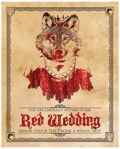Game of Thrones Red Wedding Invitation 8x10 by KnerdKraft on Etsy, $4.50   #got #agot #asoiaf