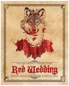 Game of Thrones Red Wedding Invitation 8x10 by KnerdKraft on Etsy, $4.50
