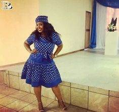 Recent shweshwe dress patterns, whichever you choose - Reny styles Zulu Traditional Attire, Sepedi Traditional Dresses, South African Traditional Dresses, Traditional Weddings, Xhosa Attire, African Attire, African Wear, African Style, African Fashion Designers