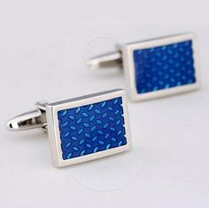 The Blue Rect Cufflinks - biddi