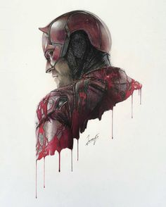 Daredevil pencil/pen drawing by artist @franzenarts #supportartists…