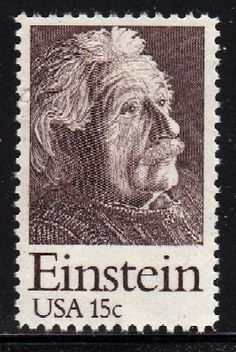 1979 - ALBERT EINSTEIN  - # 1774  Mint U.S. Postage Stamp  The stamp is in mint condition, with full, original, never hinged gum and just as fresh as when they were purchased many years ago from the Post Office.