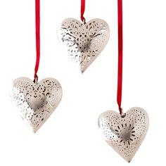I pinned this 3 Piece Heart Ornament Set from the Metallic Tidings event at Joss and Main!