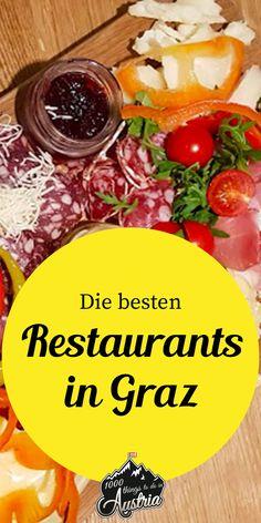 In unserem Graz-Foodieguide findest du die besten Restaurants der Landeshauptstadt Steiermark. European City Breaks, Austria Travel, European Destination, Travel Guide, Restaurants, Bucket, Camping, Food And Drink, Drinks