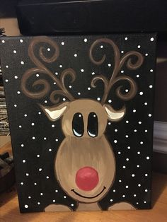 christmas paintings Diy Christmas Canvas Inspiration New Ideas<br> Simple Christmas, Christmas Projects, Kids Christmas, Painting For Kids, Diy Painting, Easy Canvas Painting, Christmas Paintings On Canvas, Pintura Country, Diy Weihnachten