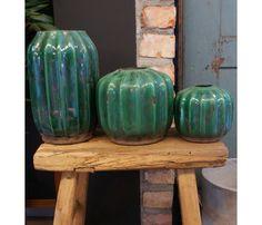 Grønn vase, 3 str - SOMMERSALG 50% - Vakre Rom Jar, Home Decor, Decoration Home, Room Decor, Home Interior Design, Jars, Glass, Home Decoration, Interior Design
