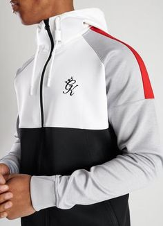 Gym King Lombardi Tracktop Grey Red