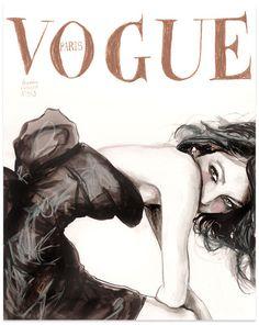 Dior creo a la mujer: Dibujos Vogue
