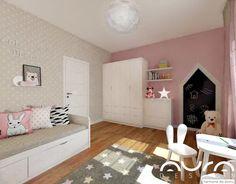 Dom we Włocławku, 2017 Baby Room Decor, Home Fashion, Girl Room, Kids Bedroom, Toddler Bed, Kids Rugs, House Styles, Furniture, Home Decor
