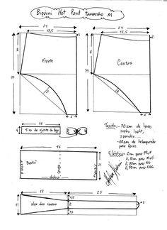 Esquema de modelagem de biquíni hot pant tamanho M.                                                                                                                                                                                 Mais