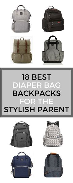 Best Diaper Bag Backpacks, For the Stylish Parent, Great for organization and unisex #newmom #baby #diaperbag #parenting
