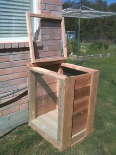 She used the Lowe's compost bin plans, but for one bin instead of two