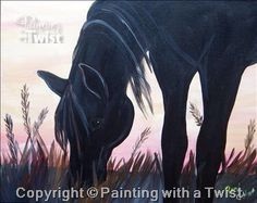 Painting With A Twist #PWAT #PaintingWithATwist Outer Banks Horse