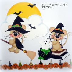 ELITE4U HALLOWEEN PREMADE TEAR BEAR PAPER PIECING SCRAPBOOK PAGE ALBUM ROXCRAFTS #Roxcraftroom