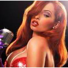 If Jessica Rabbit were a real human being <3 this is very pretty!