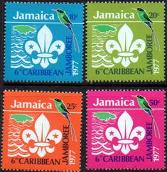Jamaica 1977 Caribbean Scout Jamboree Set Fine Mint SG 434 7 Scott 429 32 Condition Fine MNH Only one post charge applied on multiple purchases