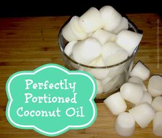 make perfectly portioned coconut oil cubes! Great to give your dog, put in your coffee or toss in a skillet!