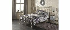 New Stunning Serene Sebastian Matt Nickel Bed Frame In 3 Sizes | eBay