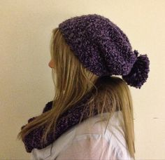 DIY Escapades: Adult Size Slouchy Hat and Infinity Scarf Set