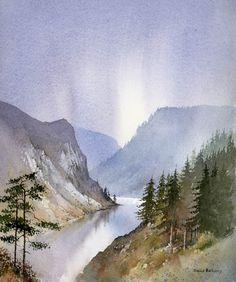 DavidBellamyArt: Painting reflections in still water