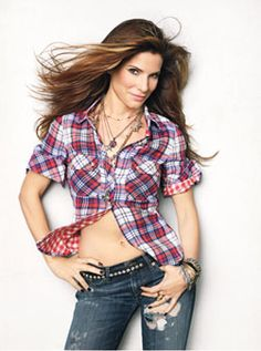 Sandra Bullock Cover-Shoot Photo Gallery: Magazine: glamour.com . love the red white and blue - perfect for July 4