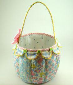 Scallop Fabric Basket PDF Sewing Pattern Tutorial | Etsy