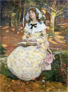 Elizabeth Adela Forbes (1859-1912)_the open book