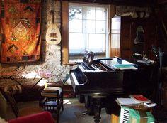 Rustic music room