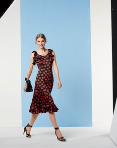 Flounce Dress 05/2015 burda