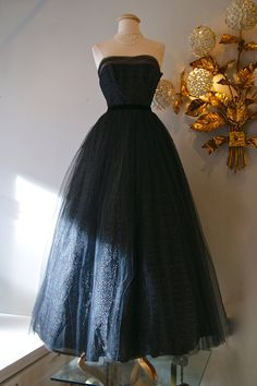 1950's Gown // Vintage 50's Starry Night Tulle by xtabayvintage, $398.00