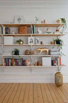 How To Decorate Shelves: 57 Best Shelfies Wood Shelves