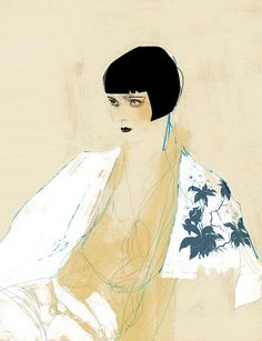 Contemporary painting of Louise Brooks by blood makes nois on flickr ----BTW, Please Visit: http://artcaffeine.imobileappsys.com