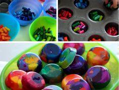 Fancy - DIY rainbow crayons!