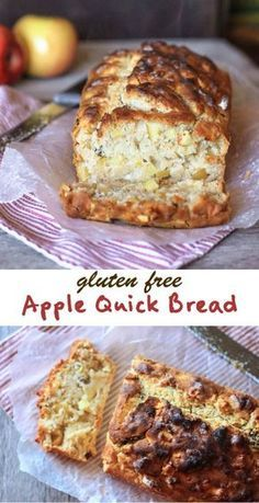 Free Apple Quick Bread Super moist and easy gluten free apple quick bread!Super moist and easy gluten free apple quick bread! Gluten Free Quick Bread, Gluten Free Banana Bread, Best Gluten Free Recipes, Quick Bread Recipes, Gluten Free Muffins, Gluten Free Sweets, Gluten Free Cooking, Gluten Free Apple Cake, Gluten Free Recipes With Apples