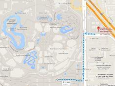 Howard Johnson Anaheim Hotel to Disneyland Walking Route