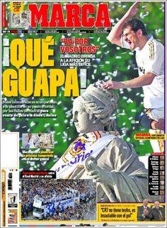 """Te presentamos """"El Papelón"""" de hoy 4 de mayo con todo lo referente a la celebración del Madrid en Cibeles."""