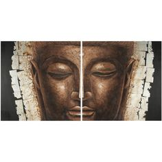 Safavieh Works of Art Buddha 2-piece Canvas Art ($112) ❤ liked on Polyvore featuring home, home decor, wall art, texture painting, buddha home decor, canvas paintings, buddha painting and textured wall art
