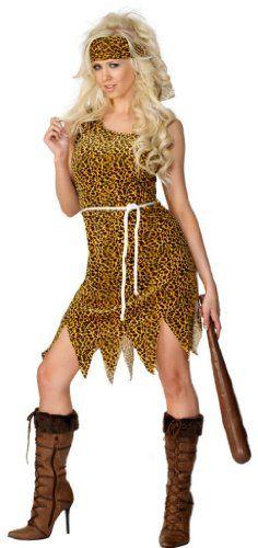 Smiffy's - Höhlenmenschkostüm Höhlenmensch Kostüm für Damen Damenkostüm Neanderta
