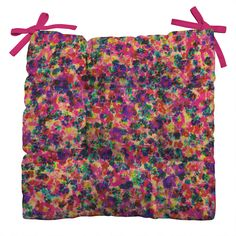 Amy Sia Floral Explosion Outdoor Seat Cushion | DENY Designs Home Accessories + 40% off POP SALE today only! Use code GOPOP40 at checkout