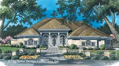 Sater Design Collection, Inc. The Queenstown Harbor House Plan DDWEBDDDS-6663
