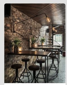 Love the wood ceiling and rock wall