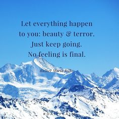Let everything happen... Whatever it might be.