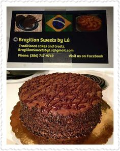 Chocolate Brigadeiro Cake from Brazilian Sweets by Lú LLC (on Facebook)