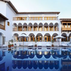 This former convent has been turned into an Orient Express #hotel in the Incan town of #Cuzco; rooms that once housed nuns are now stocked with #pisco cocktail–making kits.