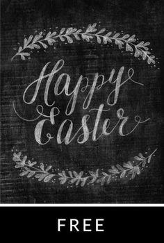 Happy Easter free download - chalkboard style