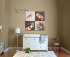 baby-photographs-displayed-in-room-with-crib