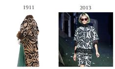 Raoul Dufy Textile Design on Poiret Coat, 1911 and Marc Jacobs SS 2014.